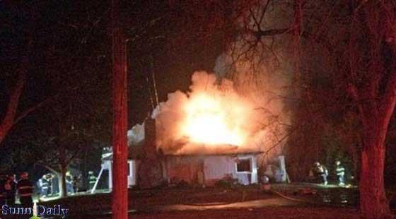 به آتش کشیدن مسجدی در کانادا